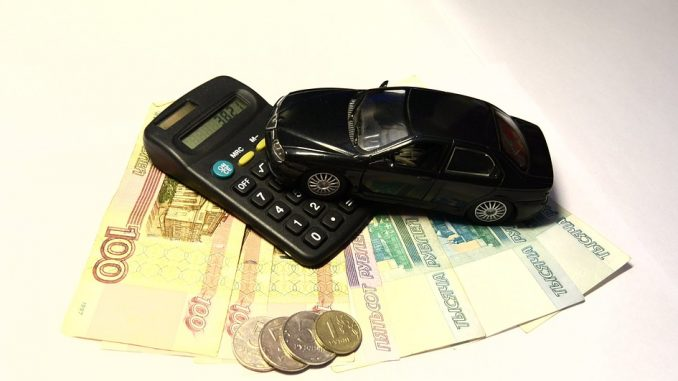 Penge, bil og regnemaskine