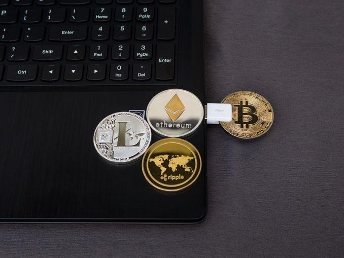 Kryptovaluta og bærbar computer