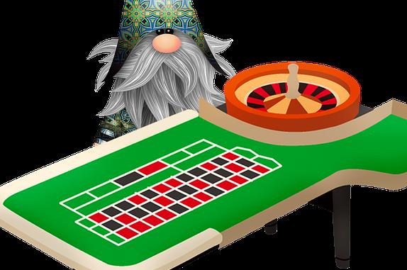 Nisse ved roulettebord